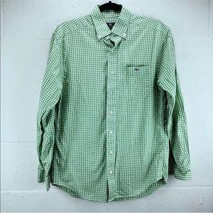 Vineyard vines   small   green gingham shirt